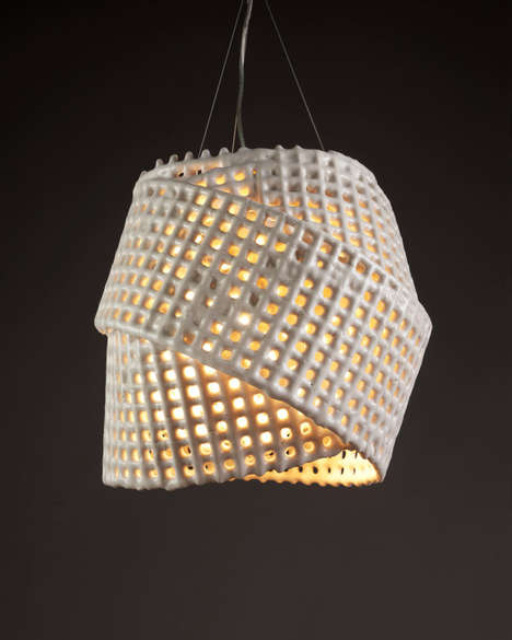 Twisted Luminous Mesh Decor