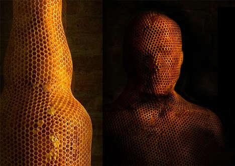 3D Bee-Made Sculptures