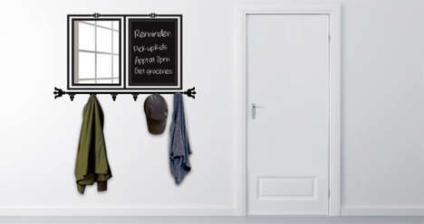 Coat-Hanging Wall Decals - Check Your Reflection with This Crafty Multi-Purpose Hanger