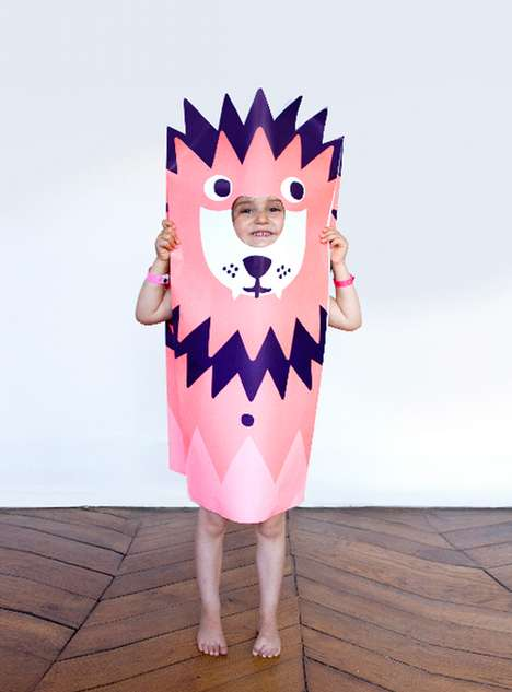 Paper Craft Kids Costumes
