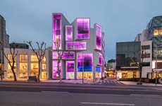 Color-Changing Architecture - This Building in Seoul has Light Up Windows That Change Color