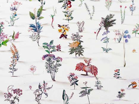 3D Floral Etchings
