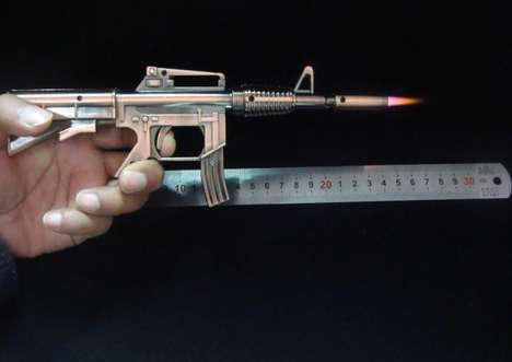 Bronze Assault Rifle Lighters
