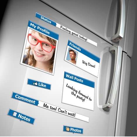 Social Media Magnets - Make Your Refrigerator Look Just Like Your Facebook Page