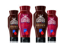 Armed Forces-Inspired Condiments - The Proceeds from 'Forces Sauces' Help Support Veterans in the UK