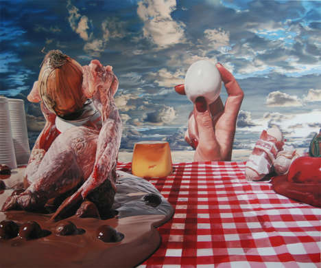 Surreal Picnic Paintings