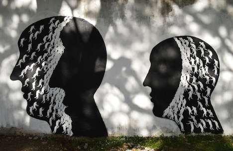 Surreal Monochromatic Street Art