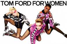 Dynamic Threesome Fashion Ads - The Tom Ford AW13 Campaign is Bold and Bright