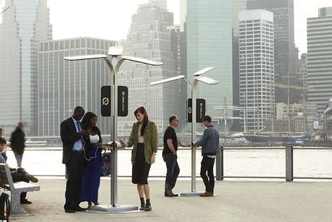 Solar Power-Charging Stations