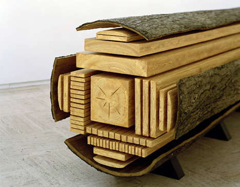 Dissected Lumber Sculptures