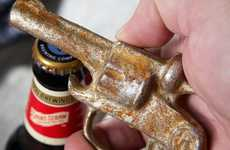 Vintage Revolver Bottle Openers - These Cast Iron Accessories Will Pop Your Brews in Style