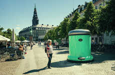Supersized Trash Can Campaigns - Copenhagen's Oversized Garbage Can Reminds Citizens to Clean