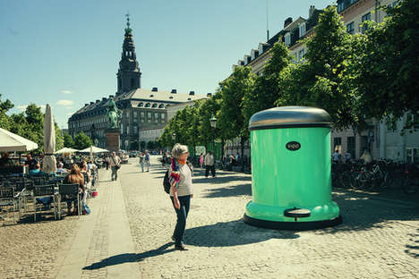 Supersized Trash Can Campaigns