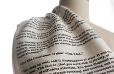Stylistic Literary Scarves - This Scarf Features Quotes from Jane Austen's Pride and Prejudice