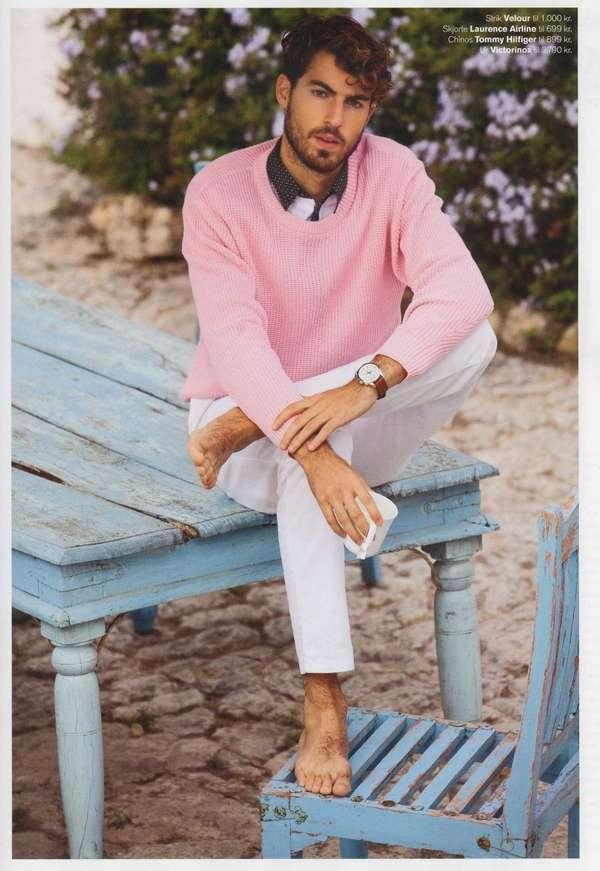 38 Flirty Pastel Menswear Styles