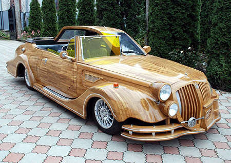 13 Astonishing Wooden Automobiles
