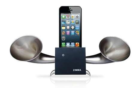 Double-Clawed Smartphone Speakers