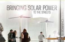 Public Solar Charging Stations - The 'Street-Charge' for Mobile Phones Has Hit NYC
