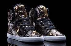 Shimmery Disco Ball Kicks - The SUPRA x A-Morir Skytop Summer Shoe is Sparkling