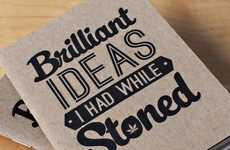 Creative Cannabis Notebooks - These Stoner Books are Perfect for Jotting Down Brilliant Ideas