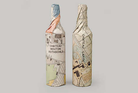 Topographic Wine Packaging