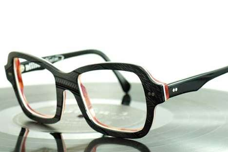 Vinyl Record Eyewear - Vinylize Eyeglasses Repurposes Old Records into Wearable Fashion