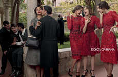 Drama-Filled Fashion Ads - The Dolce & Gabbana Fall Campaign is Rife with Emotion