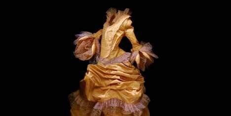 Eerie Abandoned Dress Photography