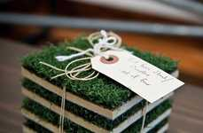 Grassy Turf Coasters - These Drink Matts Protect Your Table While Keeping a Fun Vibe