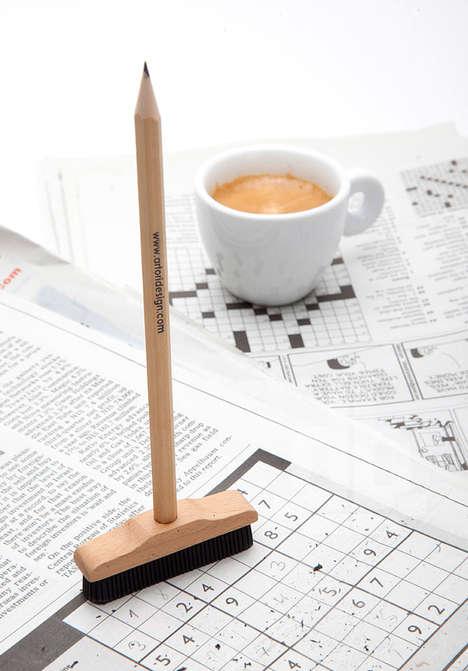 Peculiar Broom-Shaped Pencils