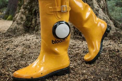Built-In Speaker Boots - The Bloom FM Bluetooth Wellies Take Singing In the Rain to the Next Level