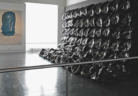 Inflatable Trash Bag Sculptures