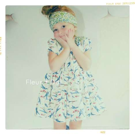 Vintage-Inspired Children's Fashion - The Fleur + Dot SS13 Collection is Timelessly Adorable