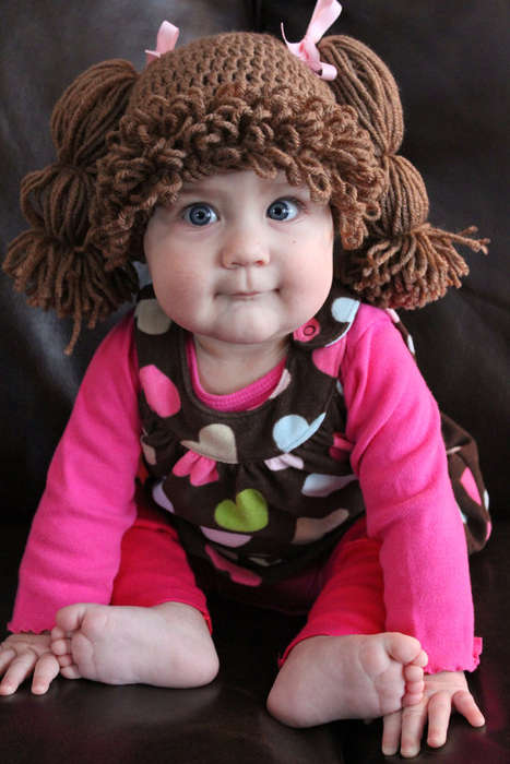 Cute Crocheted Kid Wigs - These Cabbage Patch Kid Wigs are Great for Balding Babies