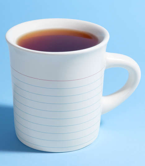 Notepad Coffee Mugs - The Memo Drink Cups Offer Practical Means of Note-Taking