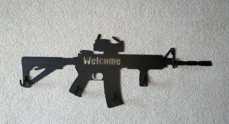 Assault Rifle Coat Hangers