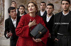 Cinematic Fashion Campaigns - The Dolce and Gabbana Fw 2013 2014 Ads are Full of Drama