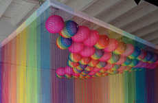 Rainbow Commentary Installations