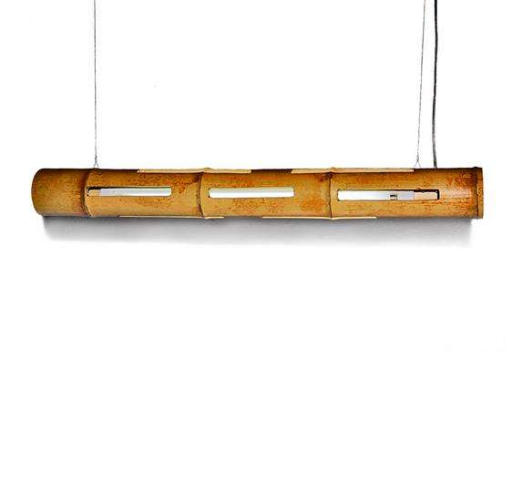 Upcycled Bamboo Trapeze Lamps