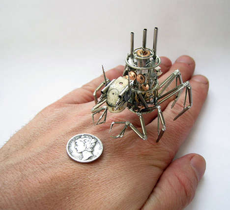 Steampunk Bug Designs - Steampunk Creations by Justin Gershenson-Gates are Intricately Detailed