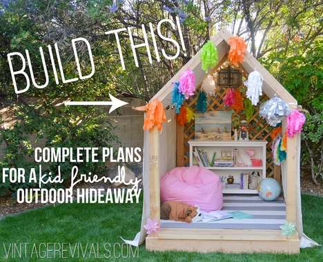 DIY Outdoor Hideaway Buildings - This Simple Building Guide Creates a Beautiful Backyard Nook