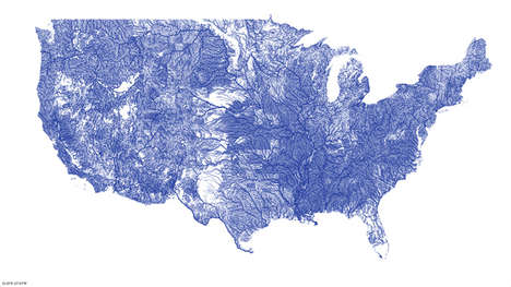 Veiny Detailed River Maps