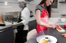 Holographic Chef Projectors - The 'Global Chef' Projects Other Cooks So You Don't Cook Alone