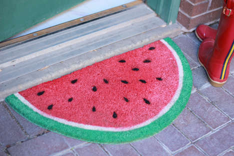 Upcycled Fruity Door Mats