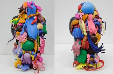 Artful Assemblage Sculptures - Teenage Fan Club by Teppei Kaneuji Utilizes Toys to Create Figurines