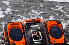 Rugged Adventure-Proof Speakers - The Eco Terra Waterproof Boombox Provides Unparalleled Performance