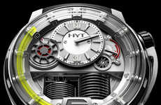Sleek Fluorescein Timepieces - HYT Combines New and Old Technology to Create a Unique Watch