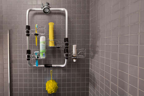 Organizational Bathroom Caddies - The Modular Shower Station Adds Order to the Morning Routine