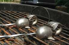 Narwhal Cooking Accessories - These Stainless Steel BBQ Skewers Have Hand-Crafted Narwhal Handles
