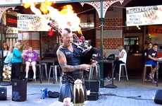 Flaming Punk Rock Bagpipers